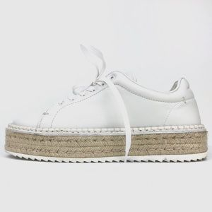 rag & bone Leather Platform Espadrille Sneakers